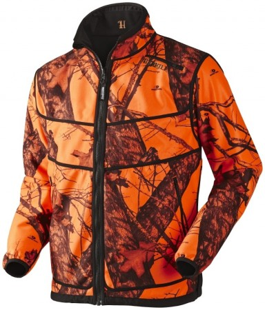 Härkila Grizzly fleece jakke - Vendbar Mossy Oak Orange Blaze®-Black
