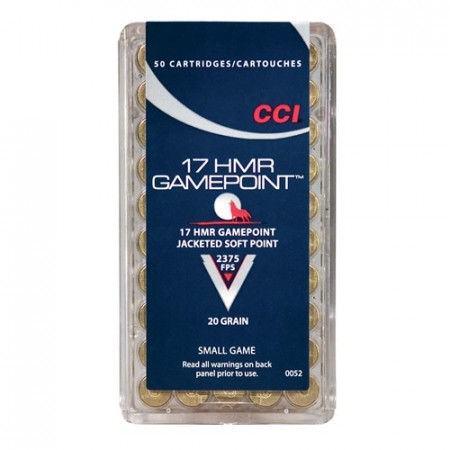 CCI 17 HMR GAME POINT 20 GR - 50 stk