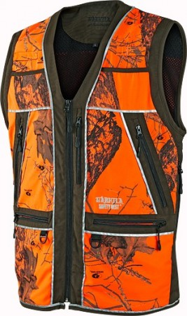 Härkila Safety vest - Green w-orange